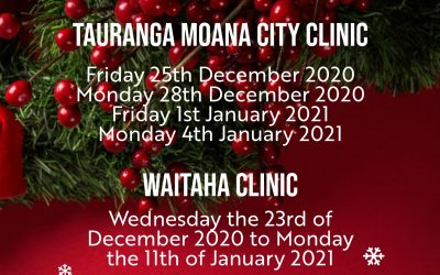 Clinic Closedown Dates